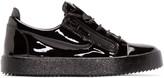 Giuseppe Zanotti Black Patent Leather London Sneakers