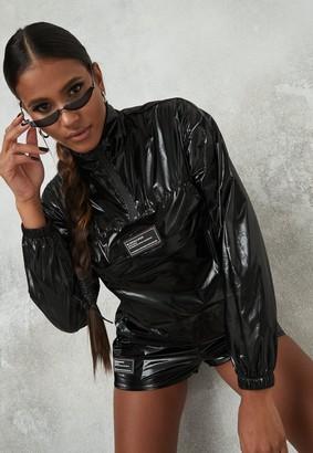 Missguided Black Pocket Front Cropped Jacket