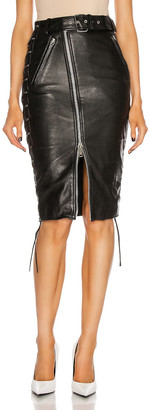 Balenciaga Biker Midi Skirt in Black | FWRD