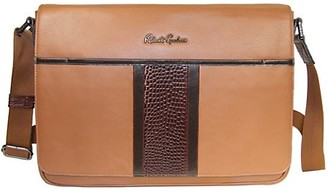 Robert Graham Bottas Embossed Leather Messenger Bag