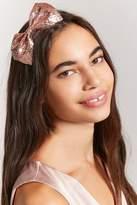 Forever 21 Glitter Bow Headband