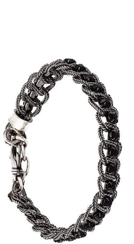 Emanuele Bicocchi braided Swarovski crystal bracelet