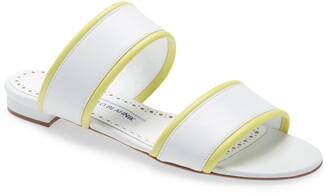 Manolo Blahnik Arpaga Double Band Slide Sandal