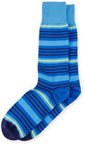Paul Smith Spin Striped Socks, Blue