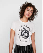Express one eleven love addict tee
