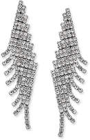 Charter Club Angled Pavé Fringe Drop Earrings, Only at Macy's