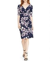 Lauren Ralph Lauren Chelsie Faux-Wrap Floral Printed Jersey Dress