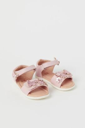H&M Appliqued Sandals - Pink