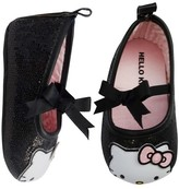 Hello Kitty Baby Girls' Crib Shoes - Black/Gray 3-6 M