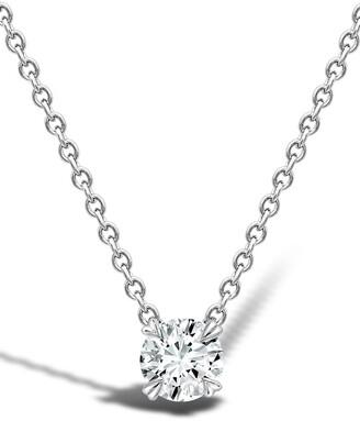 Pragnell 18kt white gold Windsor solitaire diamond pendant necklace