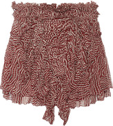 Isabel Marant Melissa printed silk-plss&eacute mini skirt