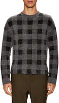 Balenciaga Men's Checkered Wool Sweater