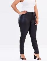 Junarose JR Five Seven NW Slim Coated Jeans