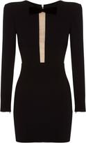 Alex Perry Jax Satin Crepe Long Sleeve Mini Dress