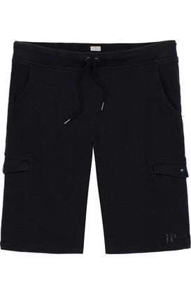 JP 1880 Men's Big & Tall Knit Cargo Shorts Black Large 720217 10-L