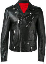 Alexander McQueen biker jacket - men - Calf Leather/Polyester - 48