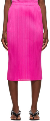 Pleats Please Issey Miyake Pink New Colorful Basics 2 Mid-Length Skirt
