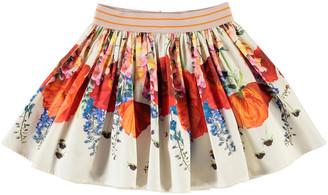 Molo Girl's Brenda Floral-Print Cotton Skirt, Size 2-12