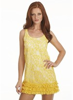 Women's Sleeveless Lace Ruffle Bottom Dress: Exclusively at Bloomingdale's