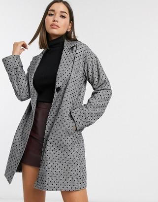 Helene Berman tailored polka dot & check coat