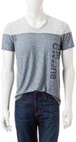 Buffalo David Bitton BBM11205 Men's Short Sleeve Blu Nadisson Color Block Knit Shirt - M