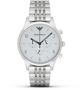 Emporio Armani Round 7-Link Bracelet Watch, 43mm