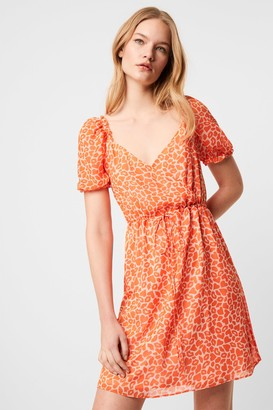 French Connenction Etta Kiss Neon Printed Dress