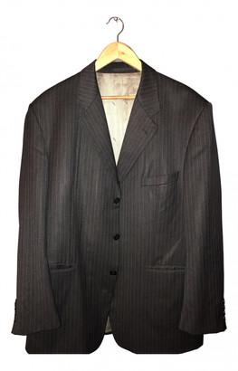 Saint Laurent Black Cotton Suits