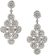 Tiffany & Co. Platinum 4.15ct Diamond Red Carpet Rose Pendant Dangle Earrings