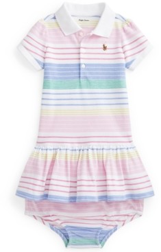 Polo Ralph Lauren Ralph Lauren Baby Girls Striped Polo Dress Bloomer