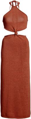 Cult Gaia Cameron Cutout Cotton-Blend Knit Midi Dress