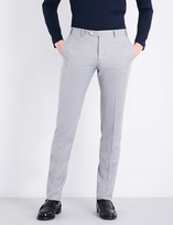 Corneliani Slim-fit mid-rise wool trousers