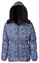 Pink Platinum Puffer Jacket for Girls