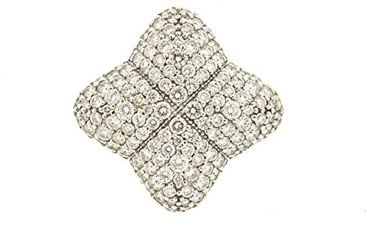 David Yurman 18K White Gold with 1.92ct Diamond Ring Band Size 7