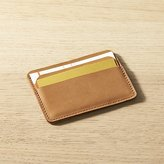 CB2 Metro Saddle Leather Card Case