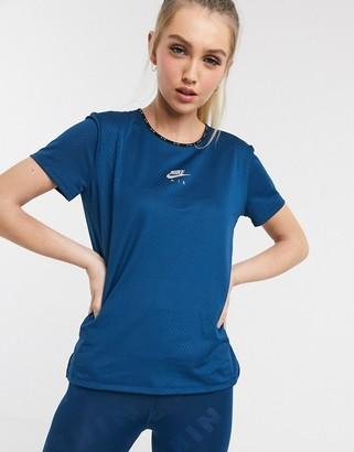 Nike Running Air logo t-shirt in blue