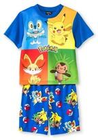 Pokemon Boys' 2-Piece Pajama Set - Blue Multicolored