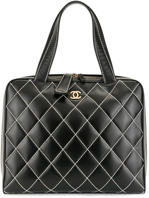 Chanel Pre Owned 2002s Wild Stitch Quilted Hand Tote Bag
