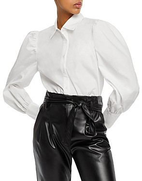 Aqua Puff-Sleeve Shirt - 100% Exclusive