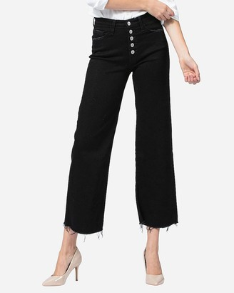 Express Flying Monkey Black High Waisted Wide Leg Jeans