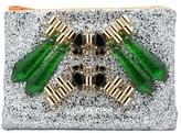 Mawi Green Spike Crystal Clutch