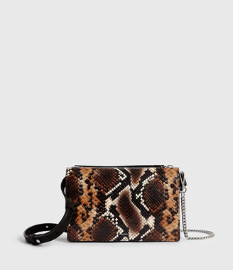 AllSaints Fetch Sliver Chain Leather Wallet Bag