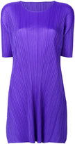 Pleats Please By Issey Miyake pleated texture elongated T-shirt