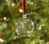 Pottery Barn Monogrammable Glass Ball Ornament