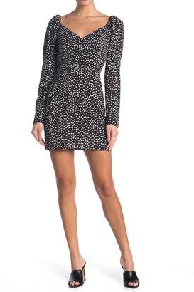 re:named apparel Drew Polka Dot Long Sleeve Dress