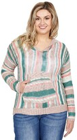 Thumbnail for your product : Rock and Roll Cowgirl Long Sleeve Stripe Hoodie with Pouch Pocket 48H8379