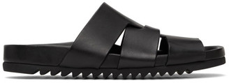 Rick Owens Black Lazarus Sandals