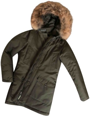 Woolrich Green Fur Coat for Women