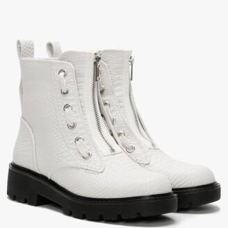 UGG Daren White Reptile Ankle Boots