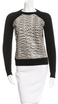 Jason Wu Snakeskin & Wool Sweater